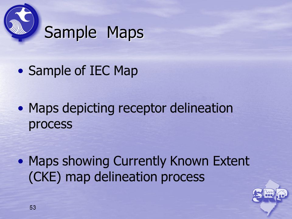 Sample Maps Sample of IEC Map