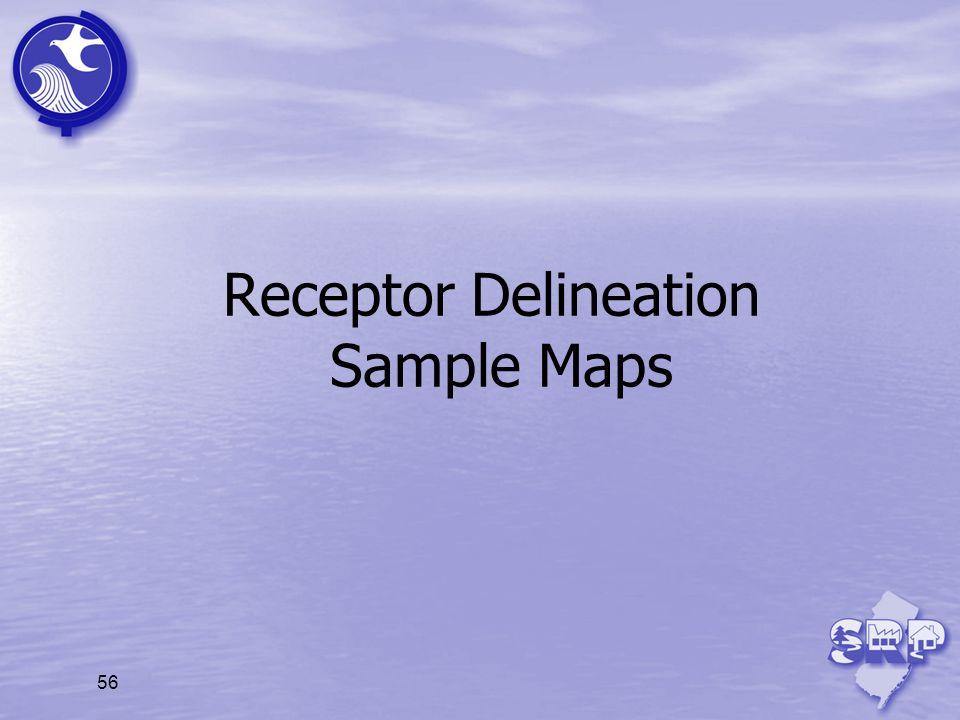 Receptor Delineation Sample Maps