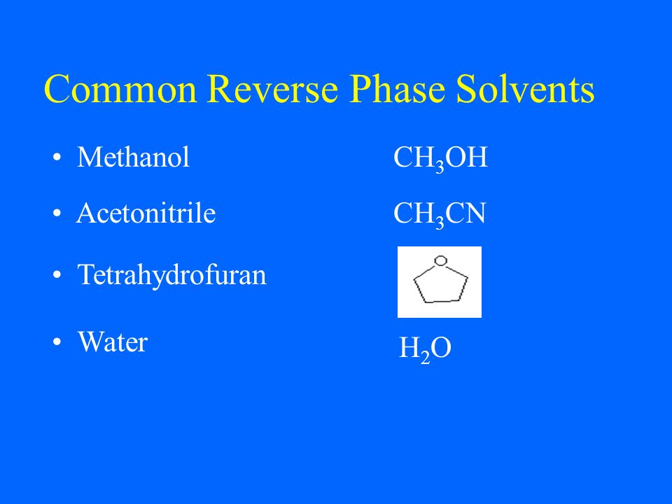 Common Reverse Phase Solvents
