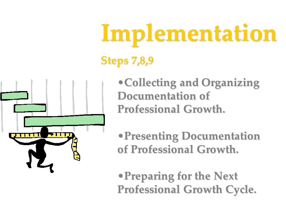 Implementation Steps 7,8,9. Collecting and Organizing Documentation of Professional Growth. Presenting Documentation of Professional Growth.