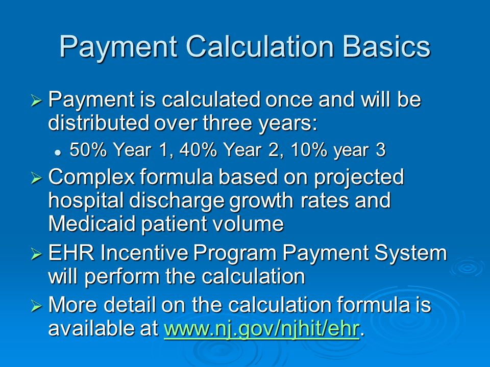 Payment Calculation Basics