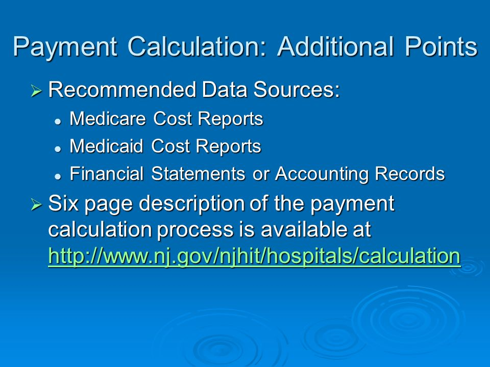 Payment Calculation: Additional Points