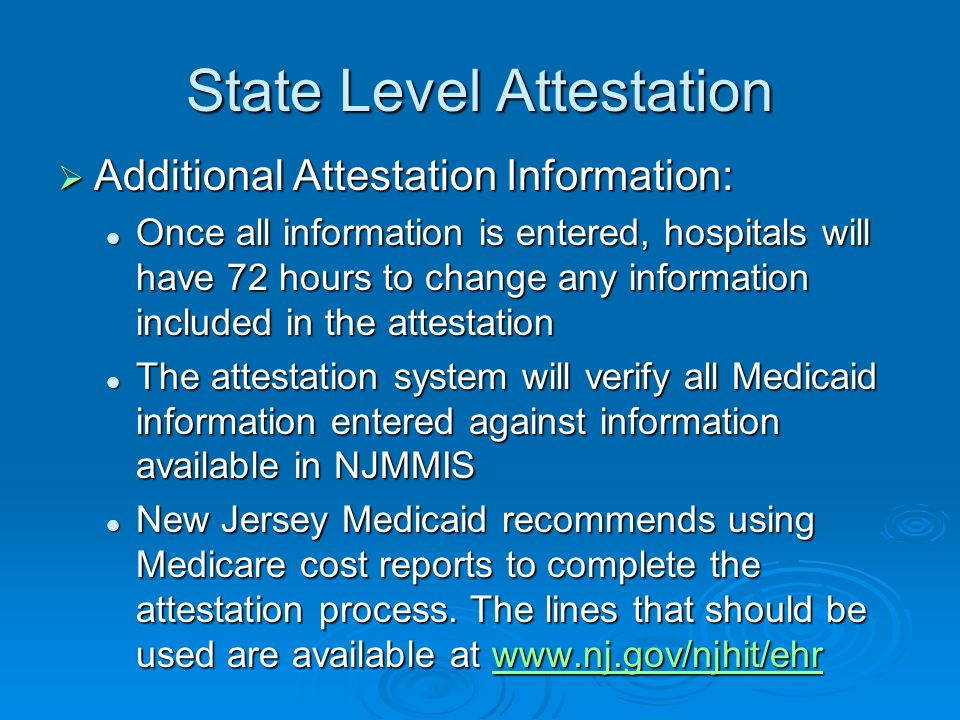 State Level Attestation