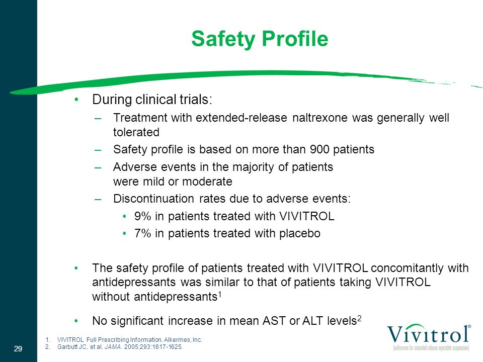 Safety Profile During clinical trials: