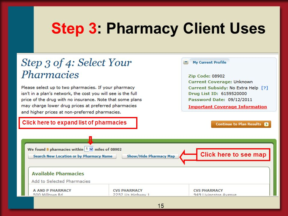 Step 3: Pharmacy Client Uses