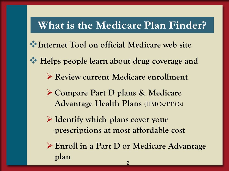 What is the Medicare Plan Finder