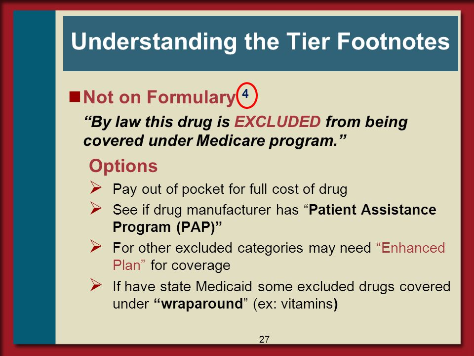Understanding the Tier Footnotes