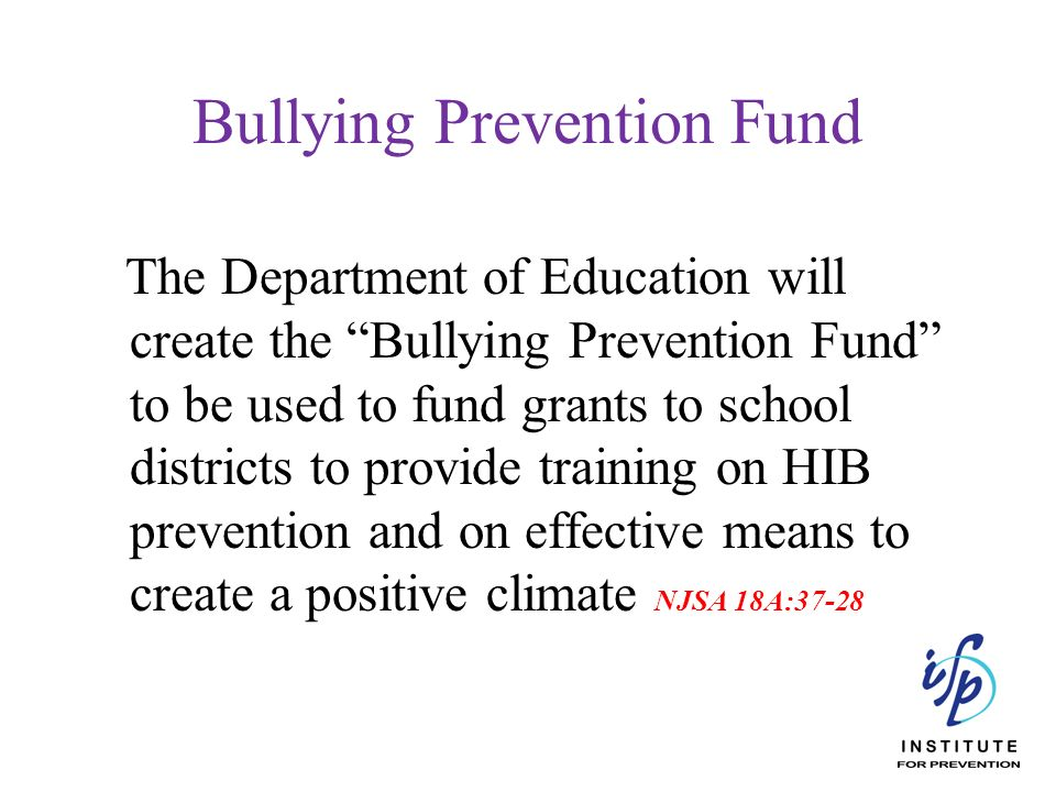 Bullying Prevention Fund