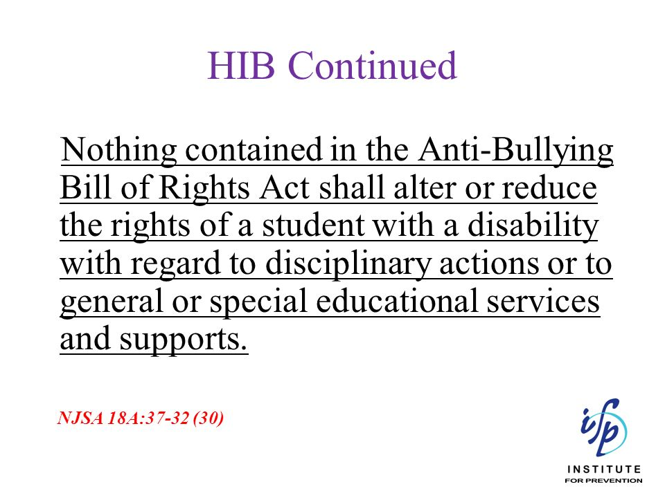 HIB Continued