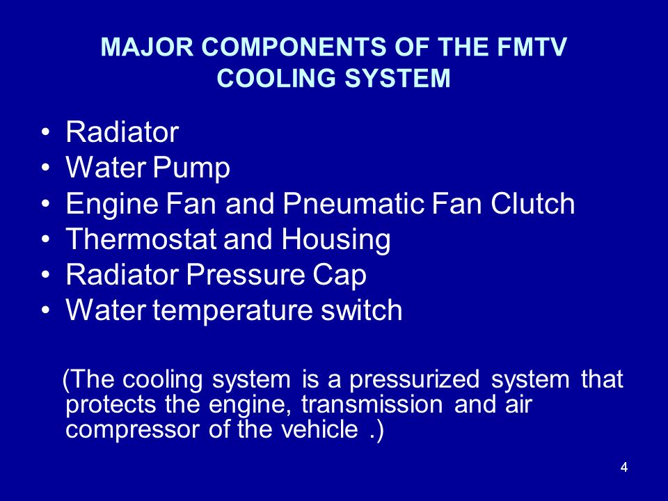 Main Components Of A Fan : Fmtv cooling systems ppt video online download