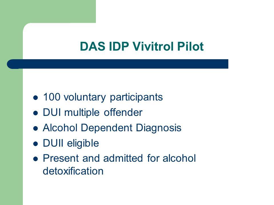 DAS IDP Vivitrol Pilot 100 voluntary participants