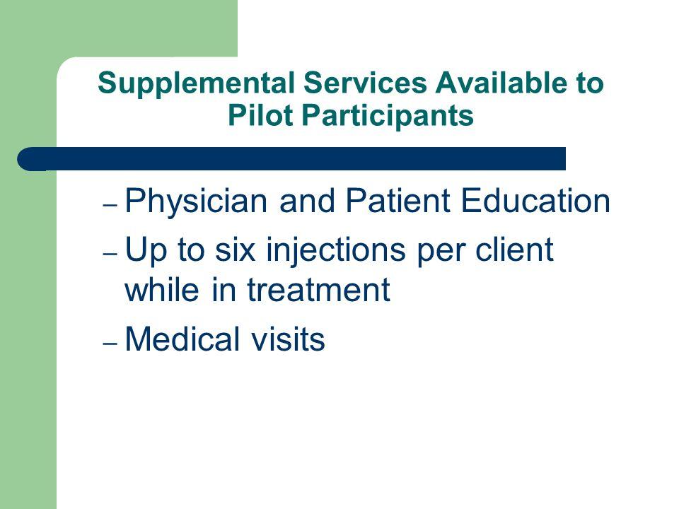 Supplemental Services Available to Pilot Participants