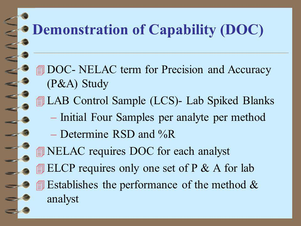 Demonstration of Capability (DOC)