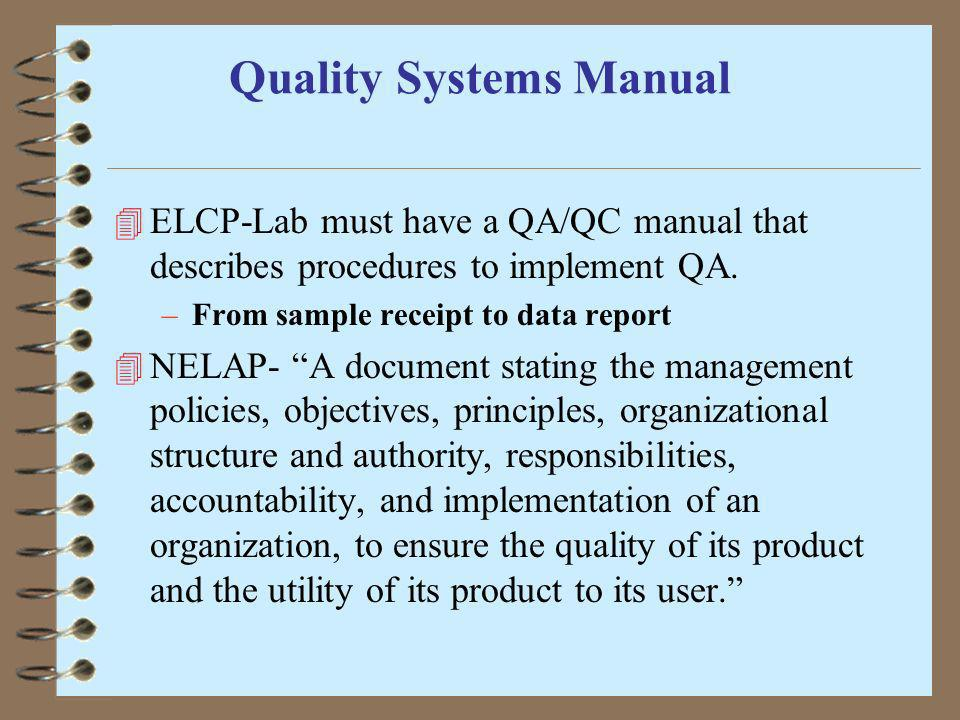 Quality Systems Manual