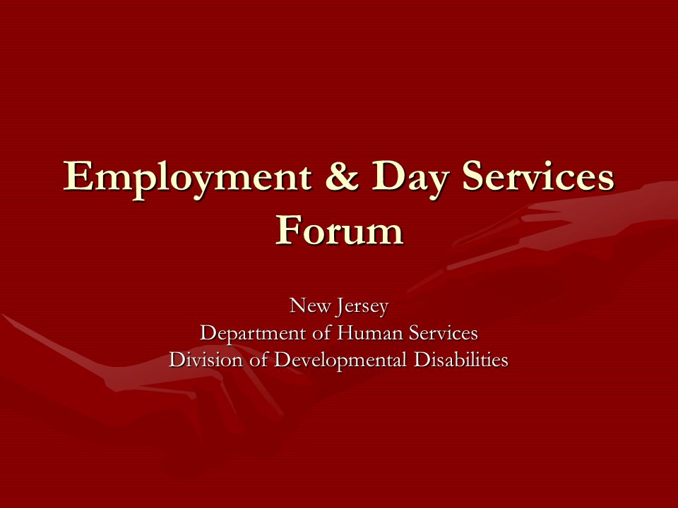 Employment & Day Services Forum