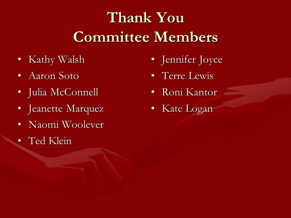 Thank You Committee Members