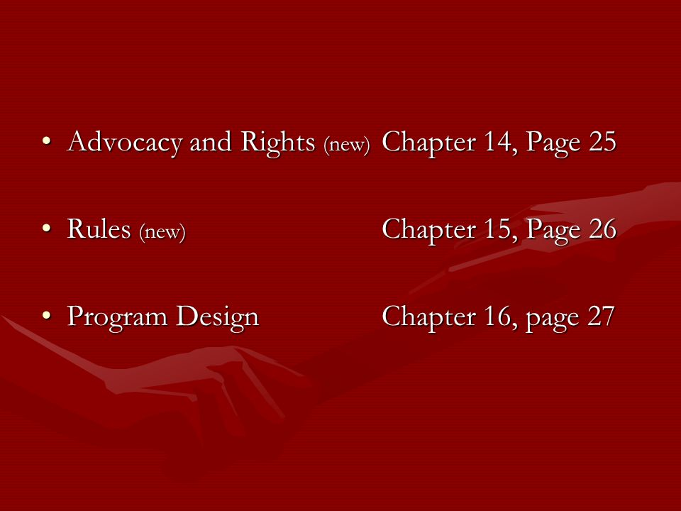 Advocacy and Rights (new) Chapter 14, Page 25