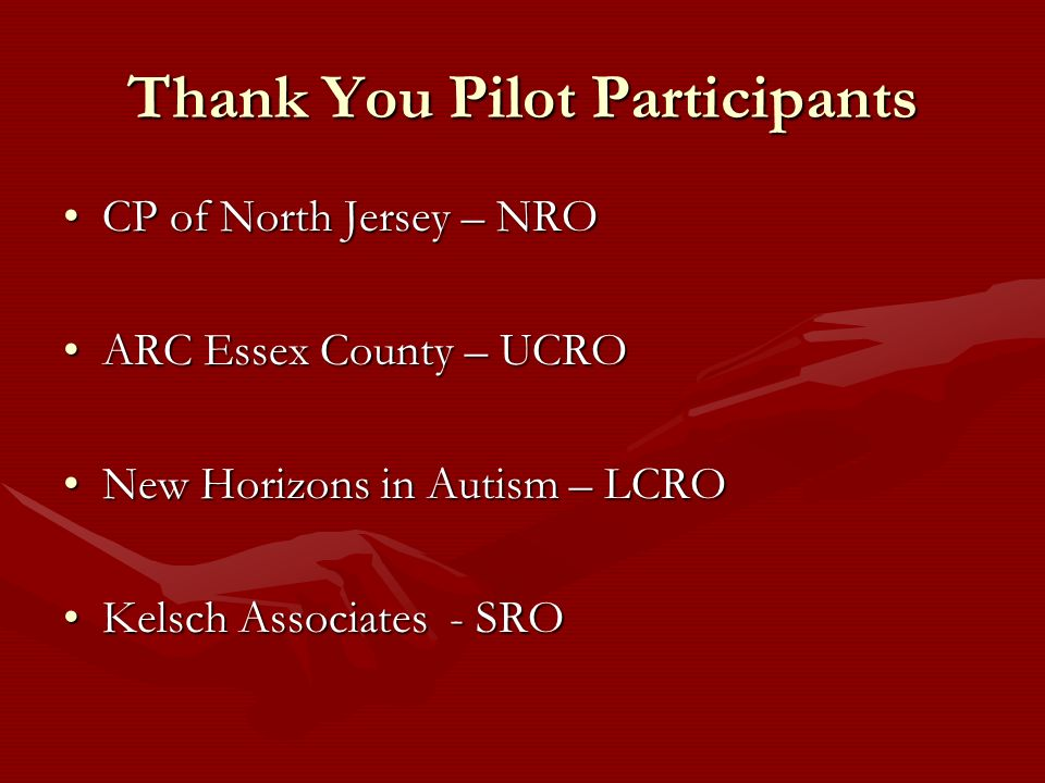 Thank You Pilot Participants
