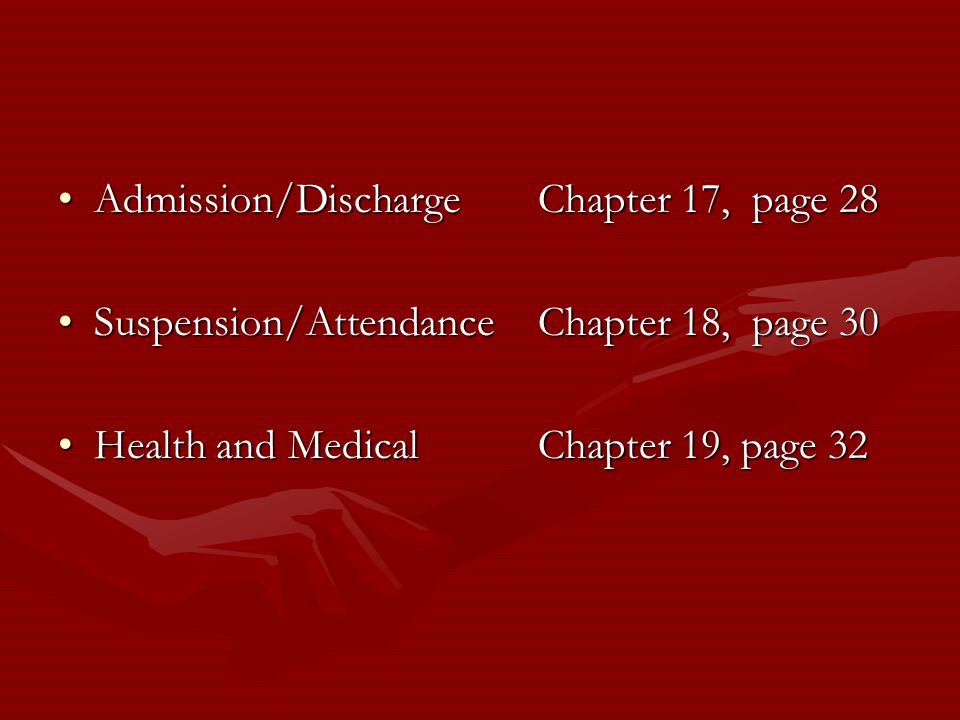 Admission/Discharge Chapter 17, page 28