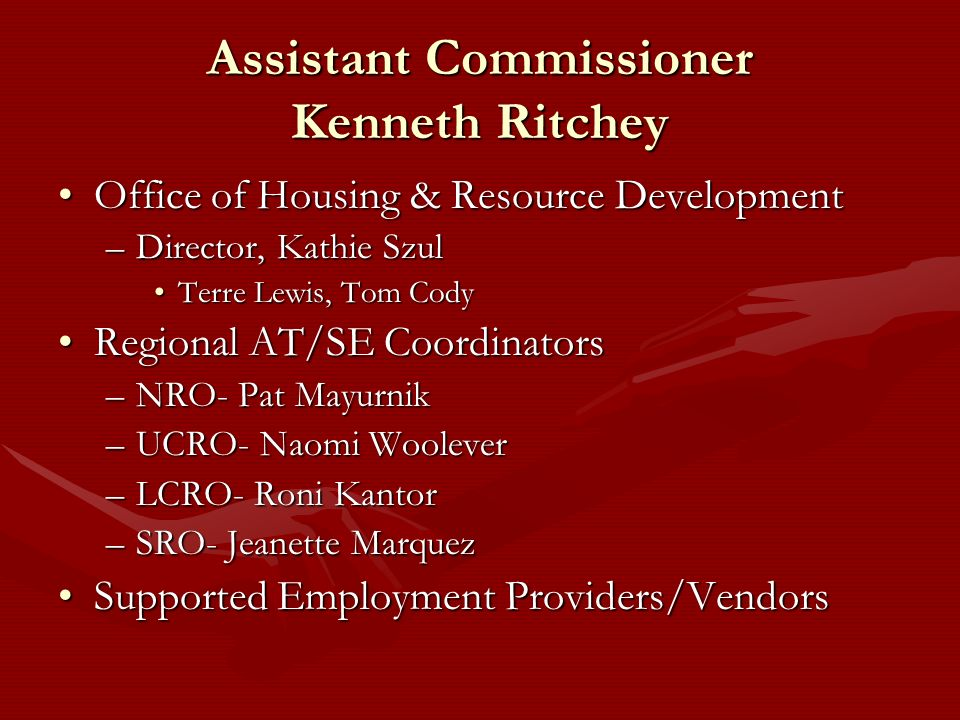 Assistant Commissioner Kenneth Ritchey