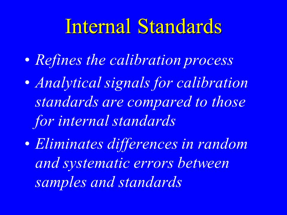Internal Standards Refines the calibration process