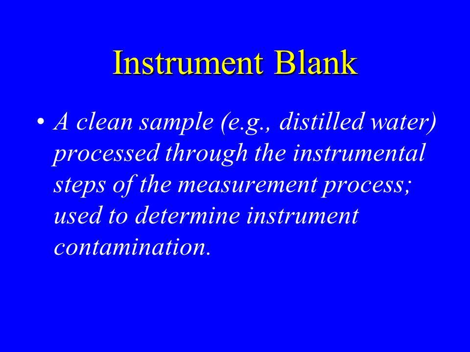 Instrument Blank