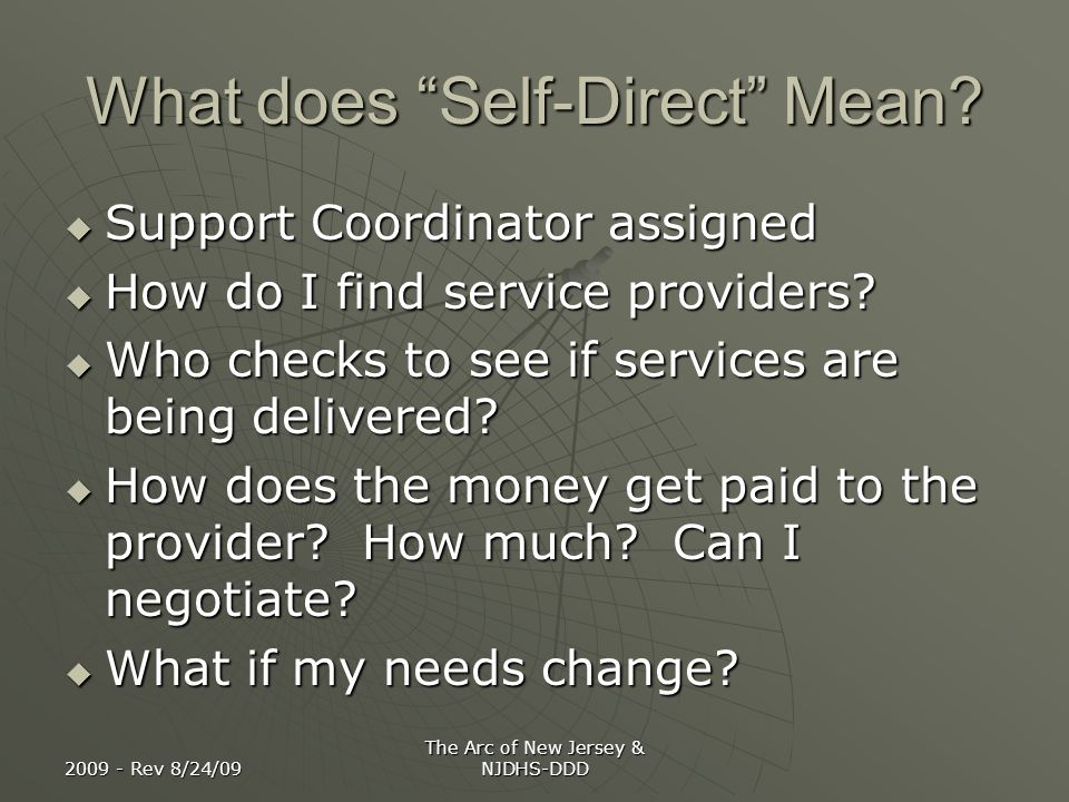 What does Self-Direct Mean