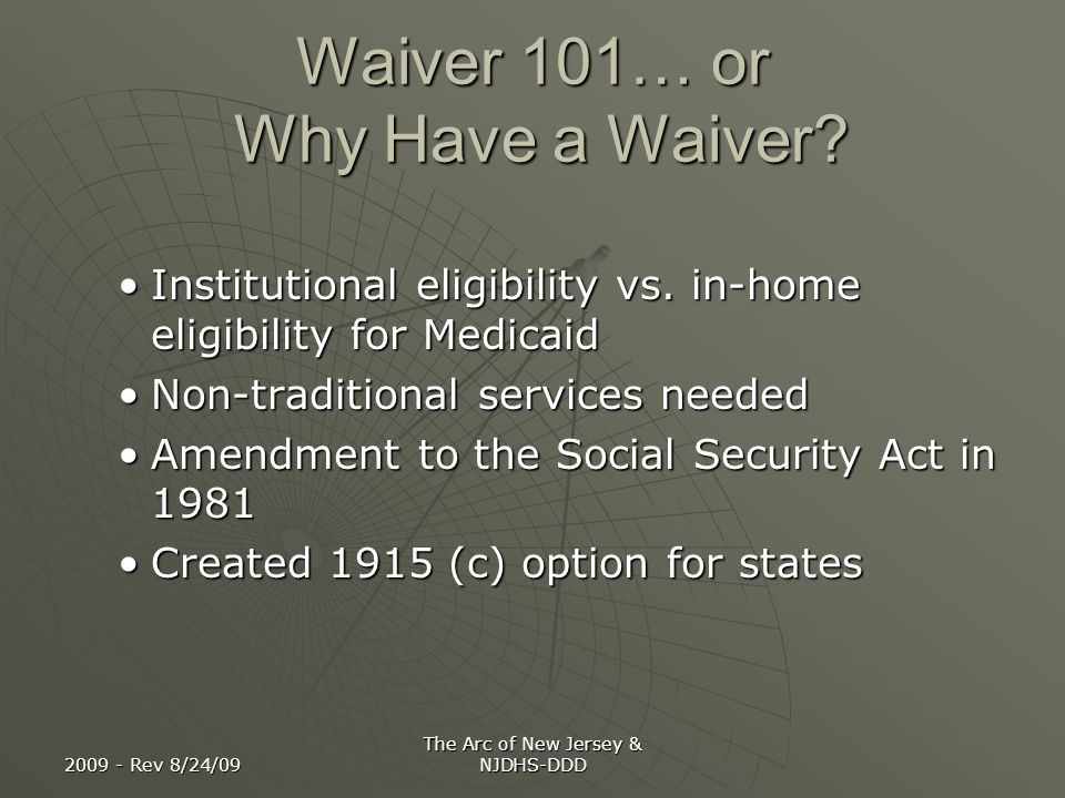 Waiver 101… or Why Have a Waiver