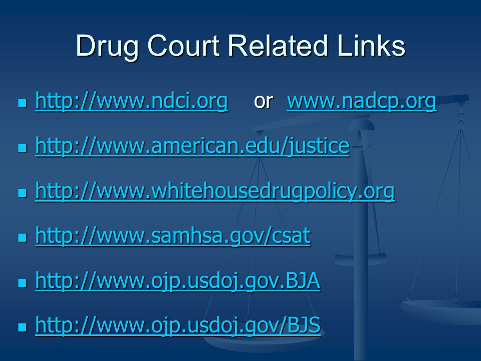 Drug Court Related Links