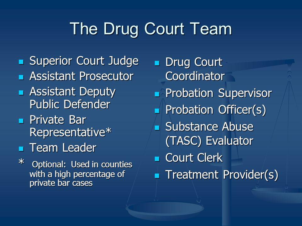 The Drug Court Team Superior Court Judge Assistant Prosecutor