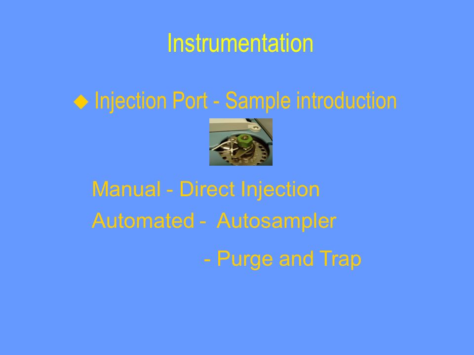 Instrumentation Manual - Direct Injection Automated - Autosampler