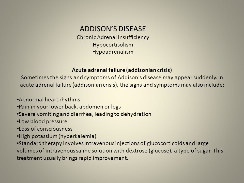 Chronic Adrenal Insufficiency