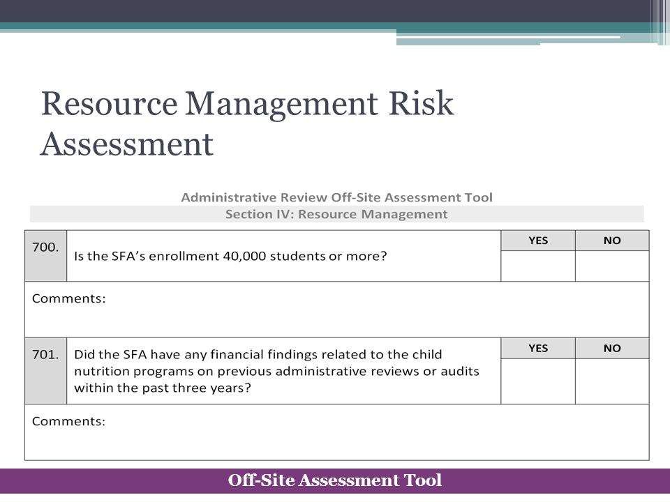 Resource Management Risk Assessment