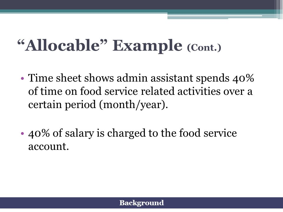 Allocable Example (Cont.)