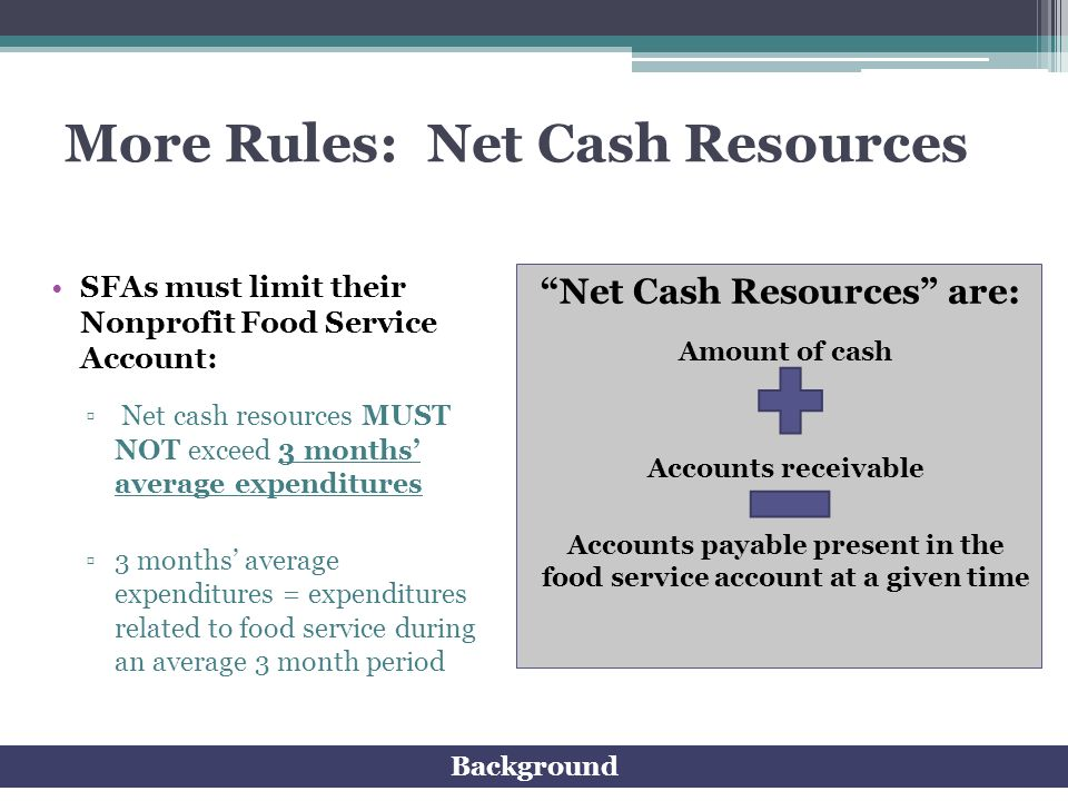 More Rules: Net Cash Resources
