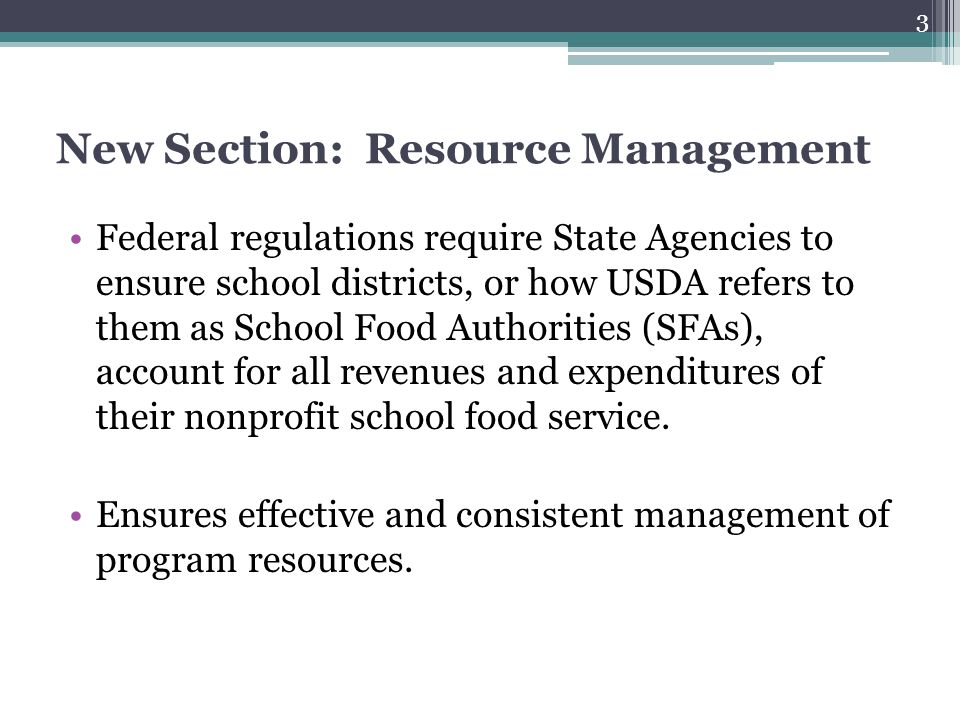 New Section: Resource Management
