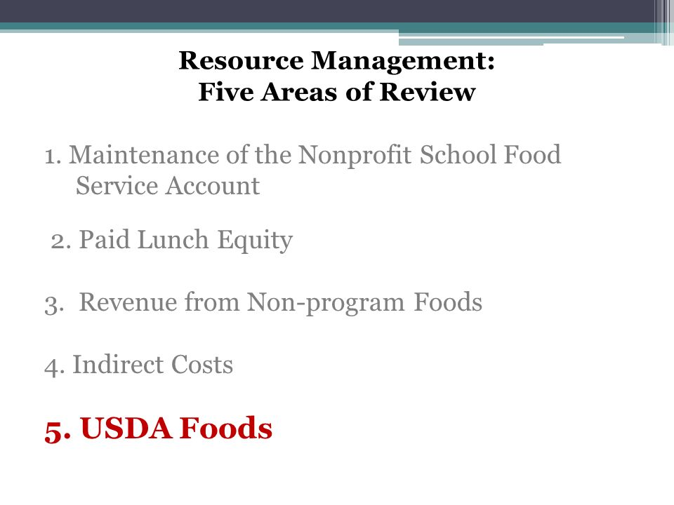 Resource Management: Five Areas of Review