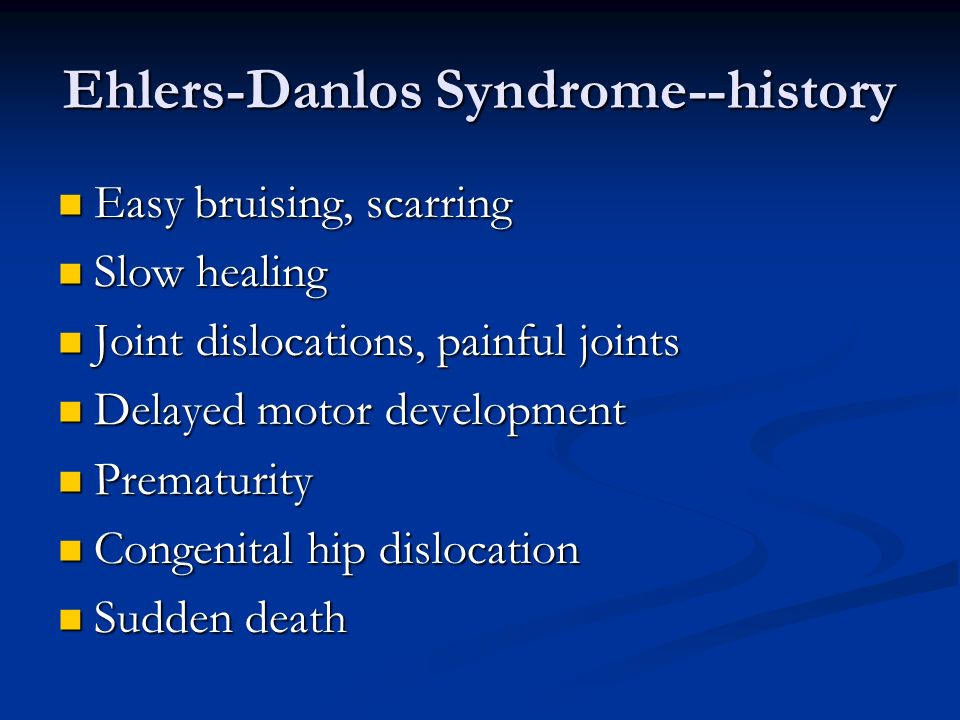 Ehlers-Danlos Syndrome--history