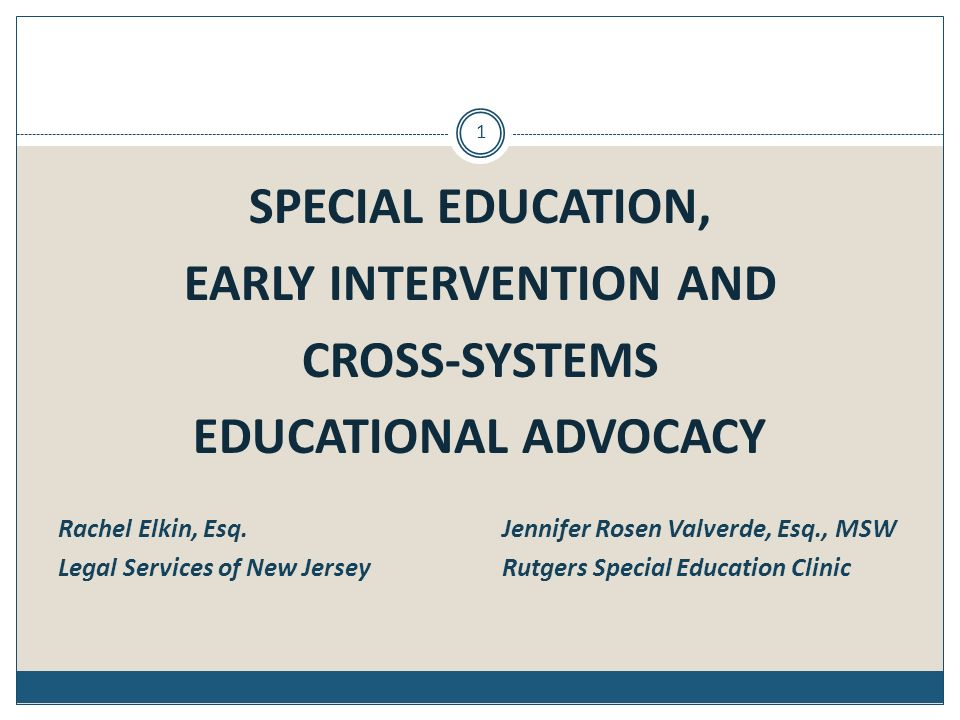 EARLY INTERVENTION AND