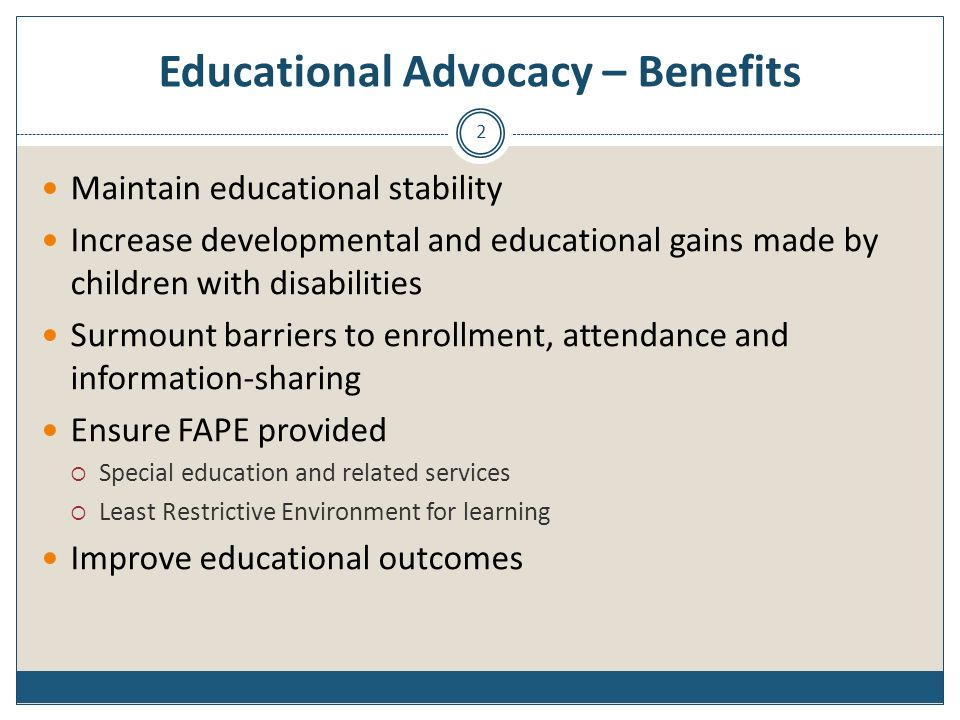 Educational Advocacy – Benefits
