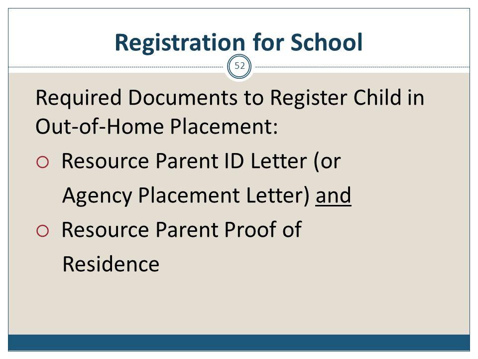 Registration for School