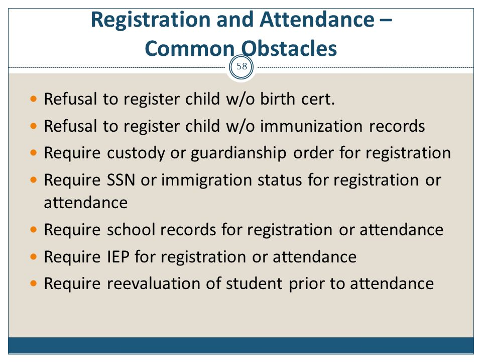 Registration and Attendance – Common Obstacles