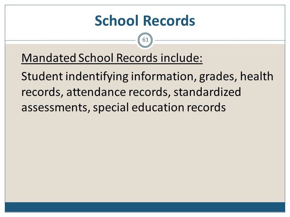 School Records