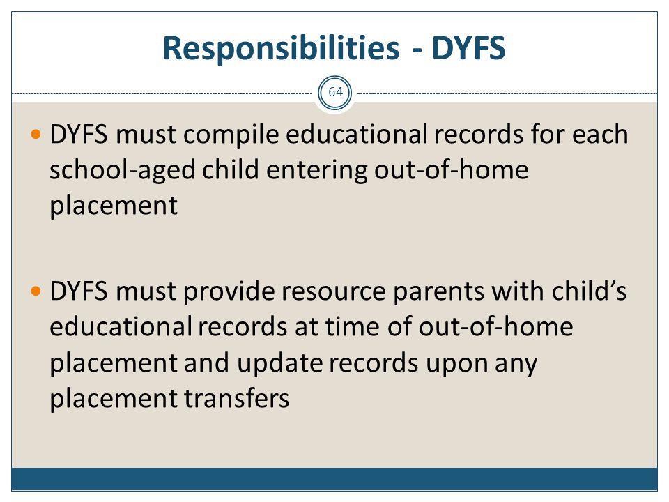 Responsibilities - DYFS