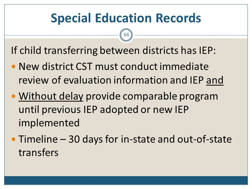 Special Education Records