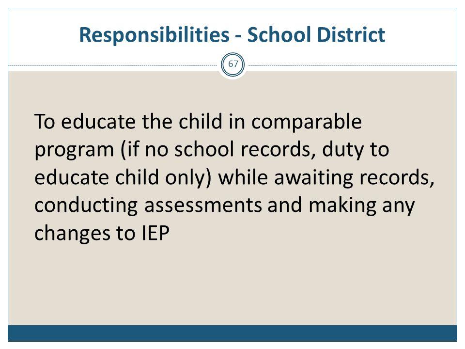 Responsibilities - School District