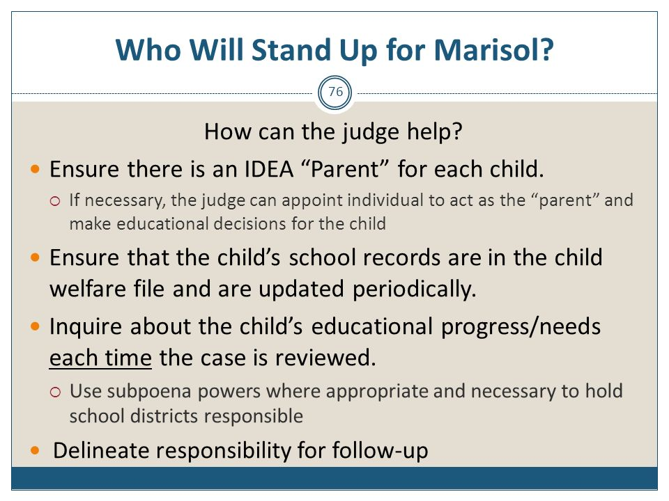 Who Will Stand Up for Marisol