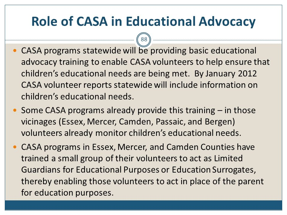 Role of CASA in Educational Advocacy