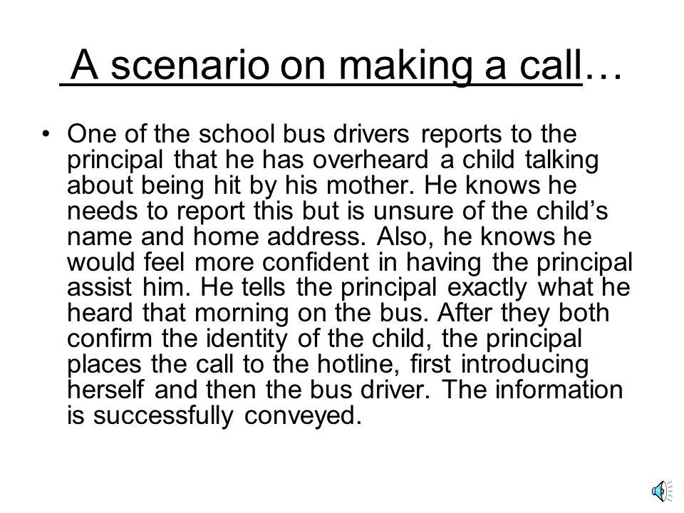 A scenario on making a call…
