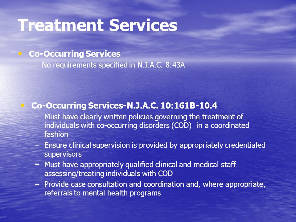 Treatment Services Co-Occurring Services